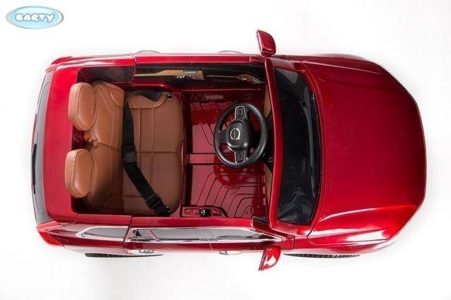 Электромобиль VOLVO XC90 красный (колеса резина, сиденье кожа, пульт, музыка)