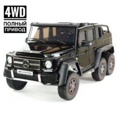 Электромобиль Mercedes-Benz G63-AMG 4WD ABL1801 черный (шестиколесный, привод на 4 колеса, музыка, пульт управления)