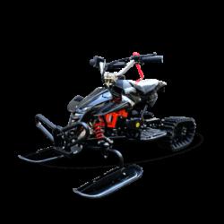 Детский снегоход H4 Snow (Снегоцикл) черный (до 30 км/ч, дисковые тормоза, до 60 кг)